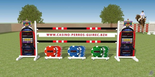 Obstacle publicitaire Casino