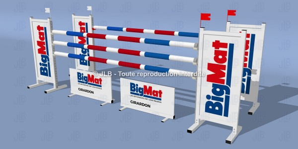 "Obstacle ""BigMat"" oxer"